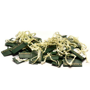 Auth-ROLEX-Hang-tag-for-OYSTER-SWIMPRUF-30-pieces-around-2000-039-s-Green-Used-ip065