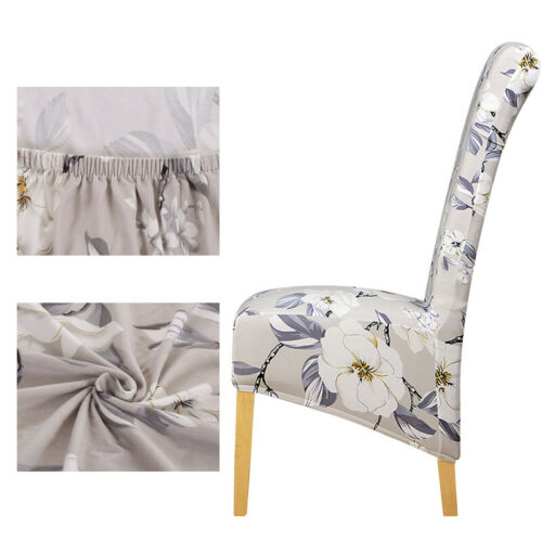 Xl Size Long Back Printed Pattern Chair Cover Europe Style Home Dining Room
