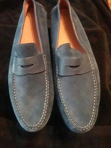 Mens Hugo Boss shoes Navy Suede Loafer