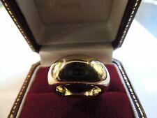 Bague jonc massive or jaune 18 carats