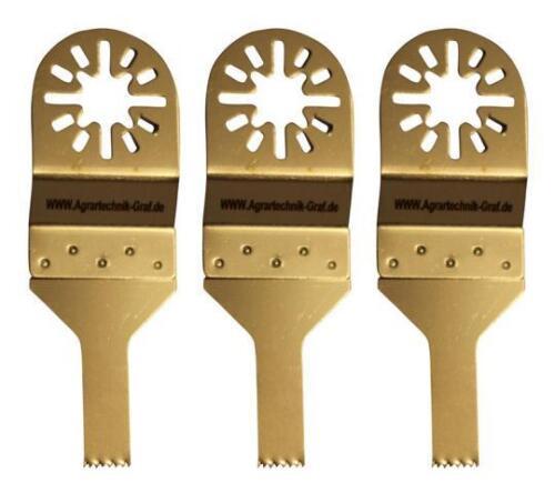 Fein Multimaster,E-Cut 3 er Set Standard Sägeblatt 10 mm für Holz Plastik pas