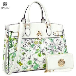 New-2pcs-Women-Handbag-Faux-Leather-Large-Shoulder-Bag-Tote-Bag-Purse-Satchel