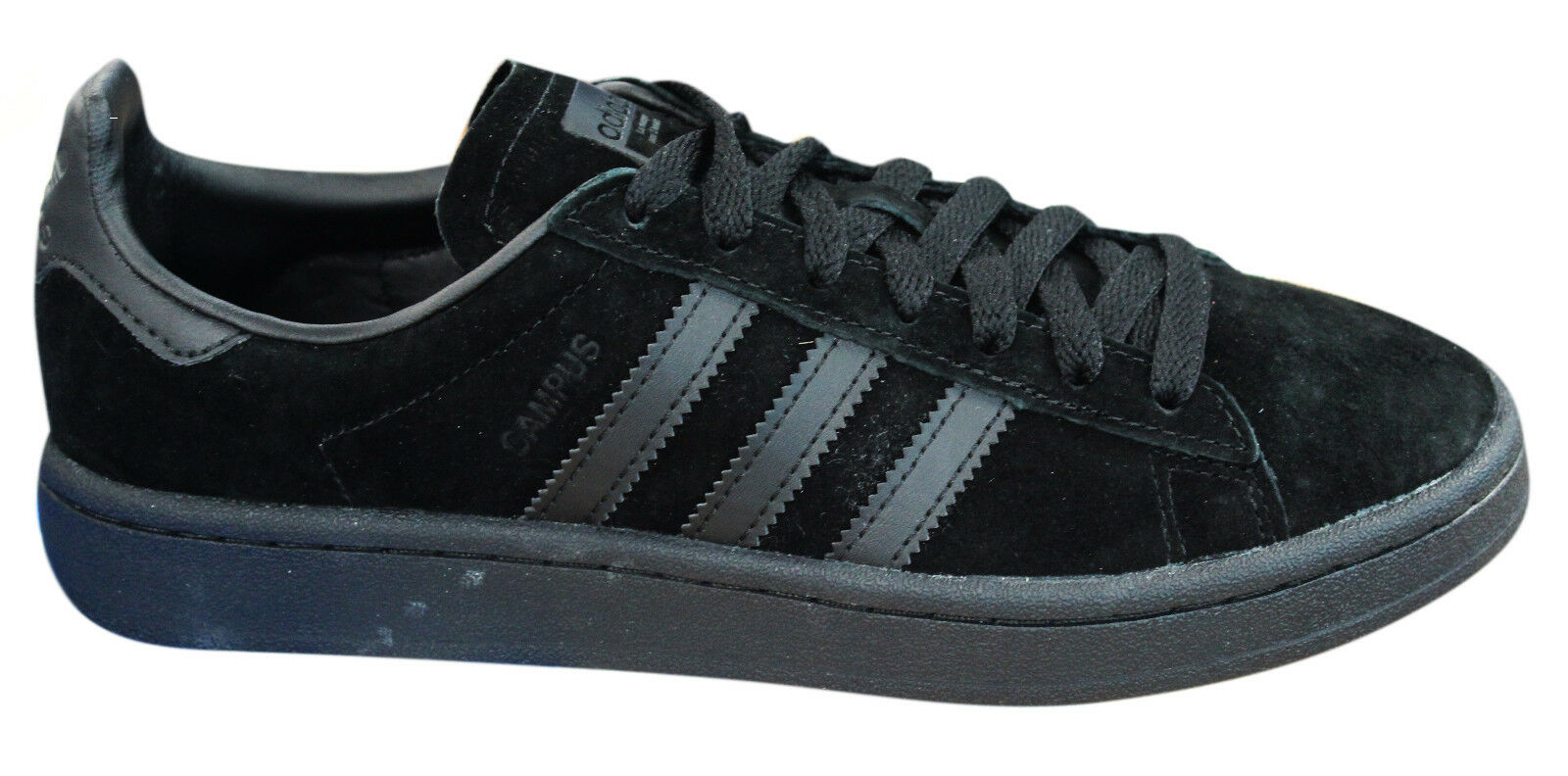 Adidas Originals Campus Mens Trainers Lace Up shoes Leather Black BZ0079 M17