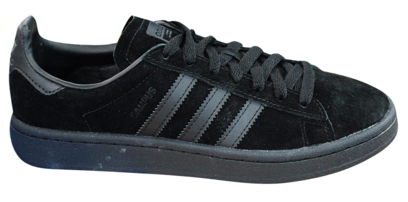 Adidas Originals Campus Zapatillas para hombre Zapatos Con Cordones De Cuero Negro BZ0079 M17