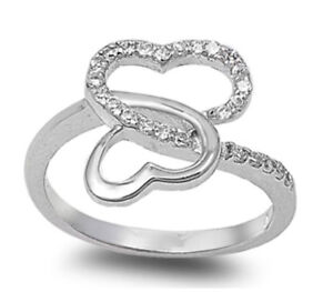 925-Sterling-Silver-INFINITY-HEART-DESIGN-CLEAR-CZ-PROMISE-RING-SIZES-4-10