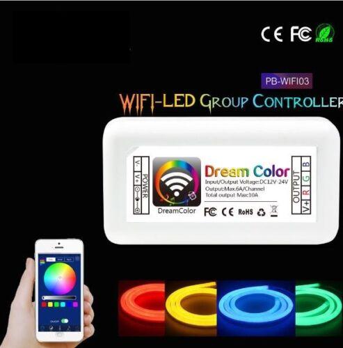 MINI WIFI DEL RGB contrôleur dc12-24v 10 A Android IOS APP Bandes Stripe Lumière