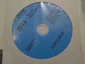 2014 Ford Explorer Workshop Service Shop Repair Information Manual ON CD NEW