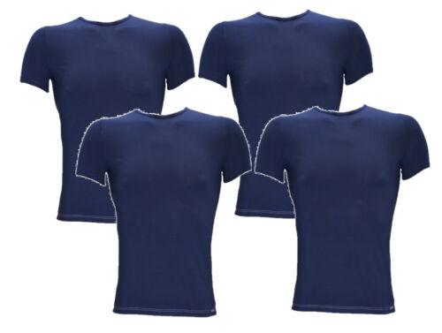 Sloggi Basic Soft 4x O-Neck Shirt Gr S XL SONDERPREIS Herren Blau online neu