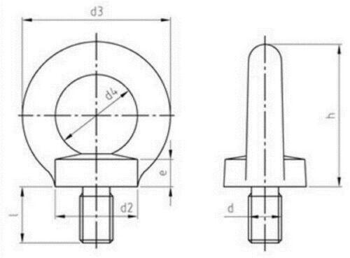 Ringschraube DIN 580 C15E verzinkt Ösenschraube Augenschraube M6 M48