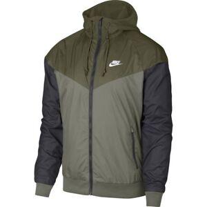Details about Nike Windrunner Jacket Olive Green Stucco Black M 4XL