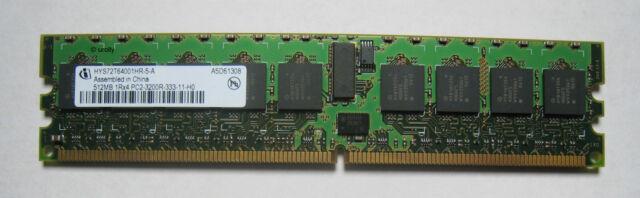 Infineon RAM 512MB 1Rx4 240-pin PC2-3200 Memory