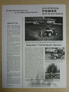 Vintage Hudson Suburban Trail N Spray Power Sprayer Sales