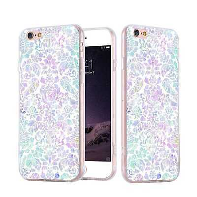 Ultra Thin Color Flowers Printed Case Soft Silicone TPU Cover for iPhone Samsung