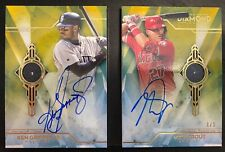 2020 Topps Diamond Icons Mike Trout Ken Griffey Jr. Dual Diamond Auto Book 1/1
