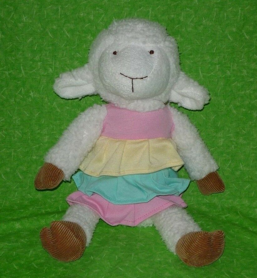 HTF Animal Adventure RUFFLED DRESS LAMB Sheep Plush Stuffed Animal Doll 16