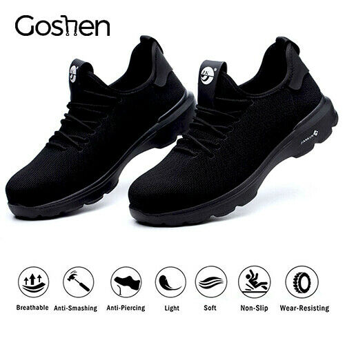 Mens Safety Trainers Steel Toe Cap Lightweight Work Shoes Sports Hiking Boots UK