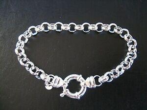BRAND NEW Genuine Solid 925 Sterling Silver Oval Belcher Ladies Bracelet