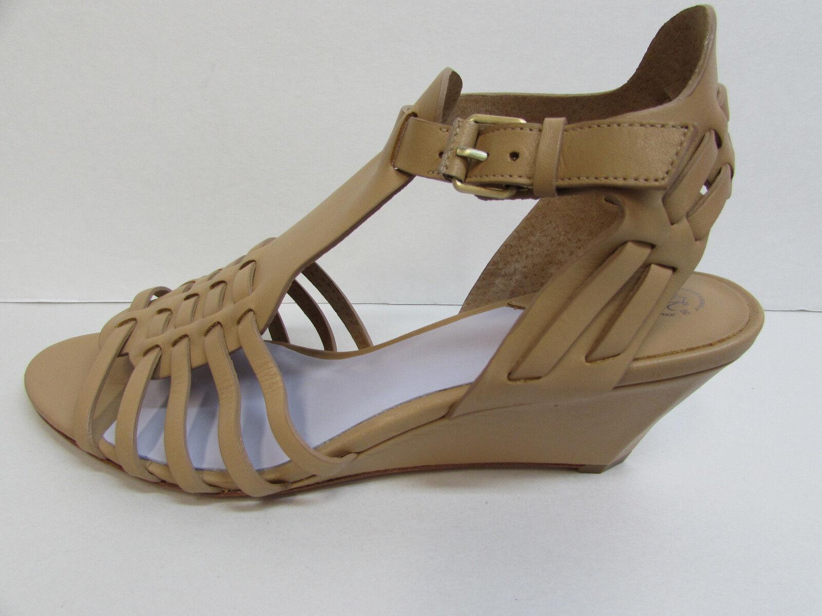Johnston Murphy Größe 9.5 Tan Leather Wedge Heels New damen schuhe