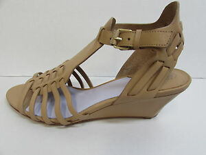 Johnston Murphy Size 9.5 Tan Leather Wedge Heels New Womens Shoes