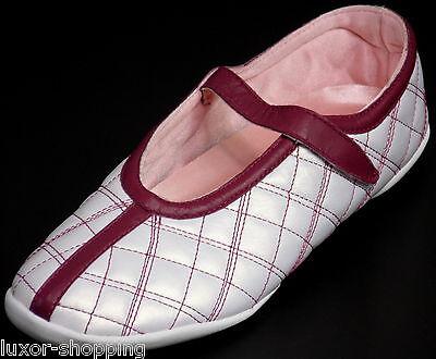 Neu ADIDAS MARY JANE Leder Weiß Gr.40 2/3 (UK 7) Damen Ballerina Schuhe