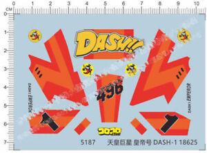 1//32 Mini 4wd The Boomerang Model Kit Water Decal
