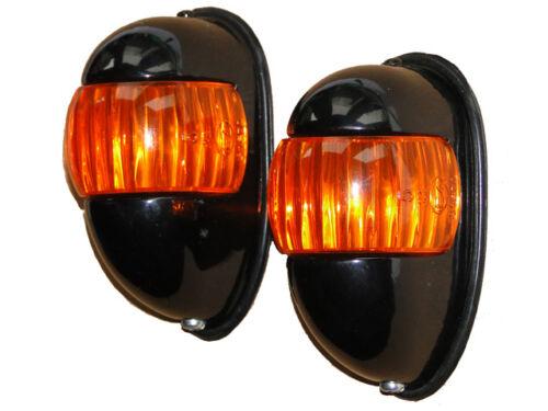 Traktor Blinkanlage 1 Paar Blinker mit Stahlgehäuse für Unimog Oldtimer