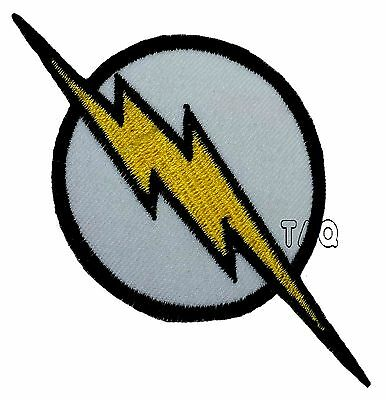 THE FLASH lightning bolt logo EMBROIDERED IRON-ON PATCH applique dc comics #26