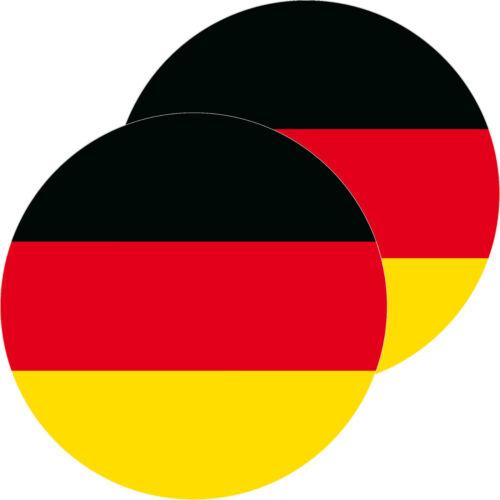 2 Aufkleber 10cm rund BRD Sticker Deutschland Flagge Fahne WM EM Fußball Deko