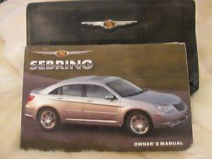 2007 chrysler sebring owners manual ebay rh ebay com 2010 Chrysler Sebring Convertible 2009 Chrysler Sebring Convertible