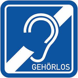 Gehoerlos-Magnetschild-Magnettafel-Schild-1-mm-Taubstumm-Taub-Hoergeschaedigt