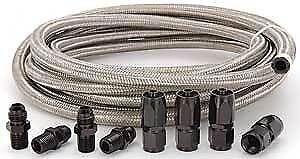 Automatic Transmission Cooler Line Kit 6AN Steel Braided Hose Kit  4L80E
