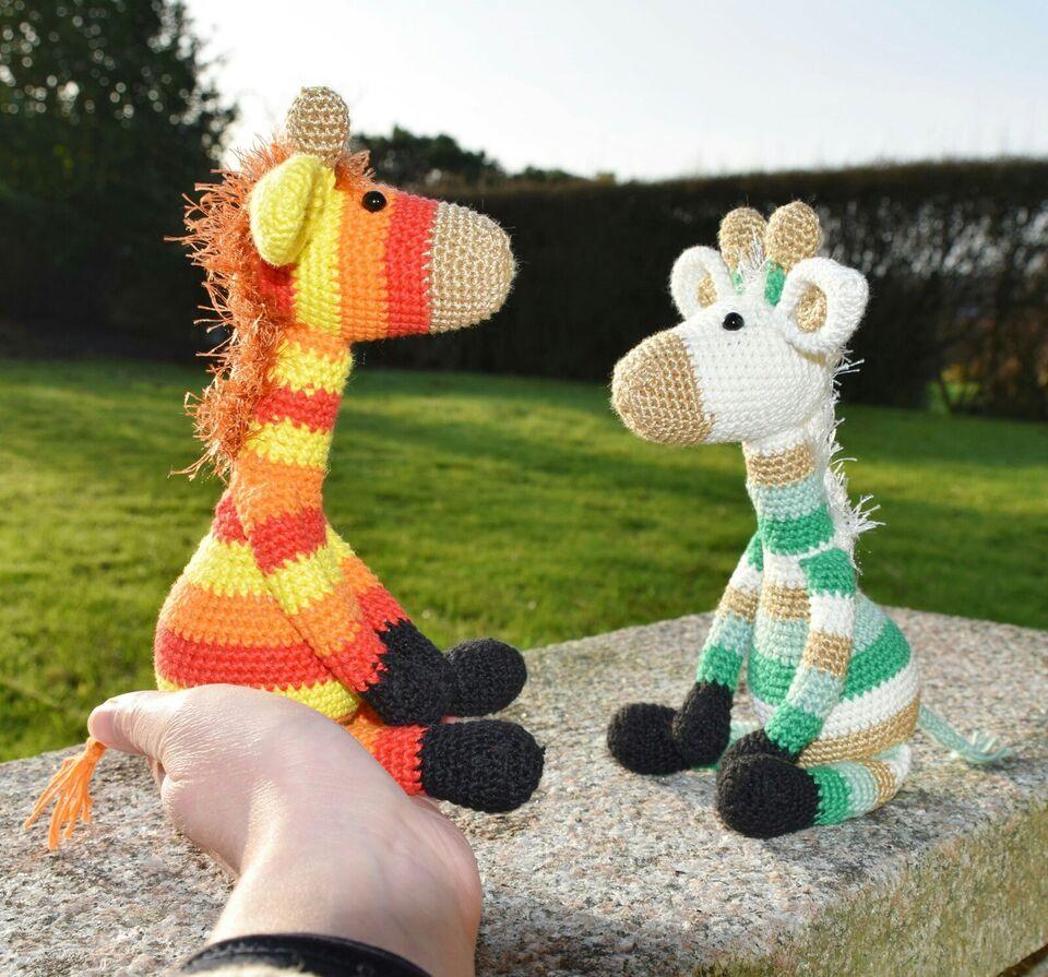 Hæklede mini-giraffer, håndarbejde