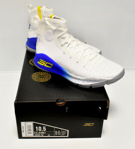 Under Armour UA Curry 4 Men's 12 Warriors Home Basketball Shoes 1298306-100 New