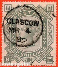 """SG. 128. j124. """"BF"""". 10/grigio-verdastro. un bel in posizione verticale 4th MARZO 1882 CD"""