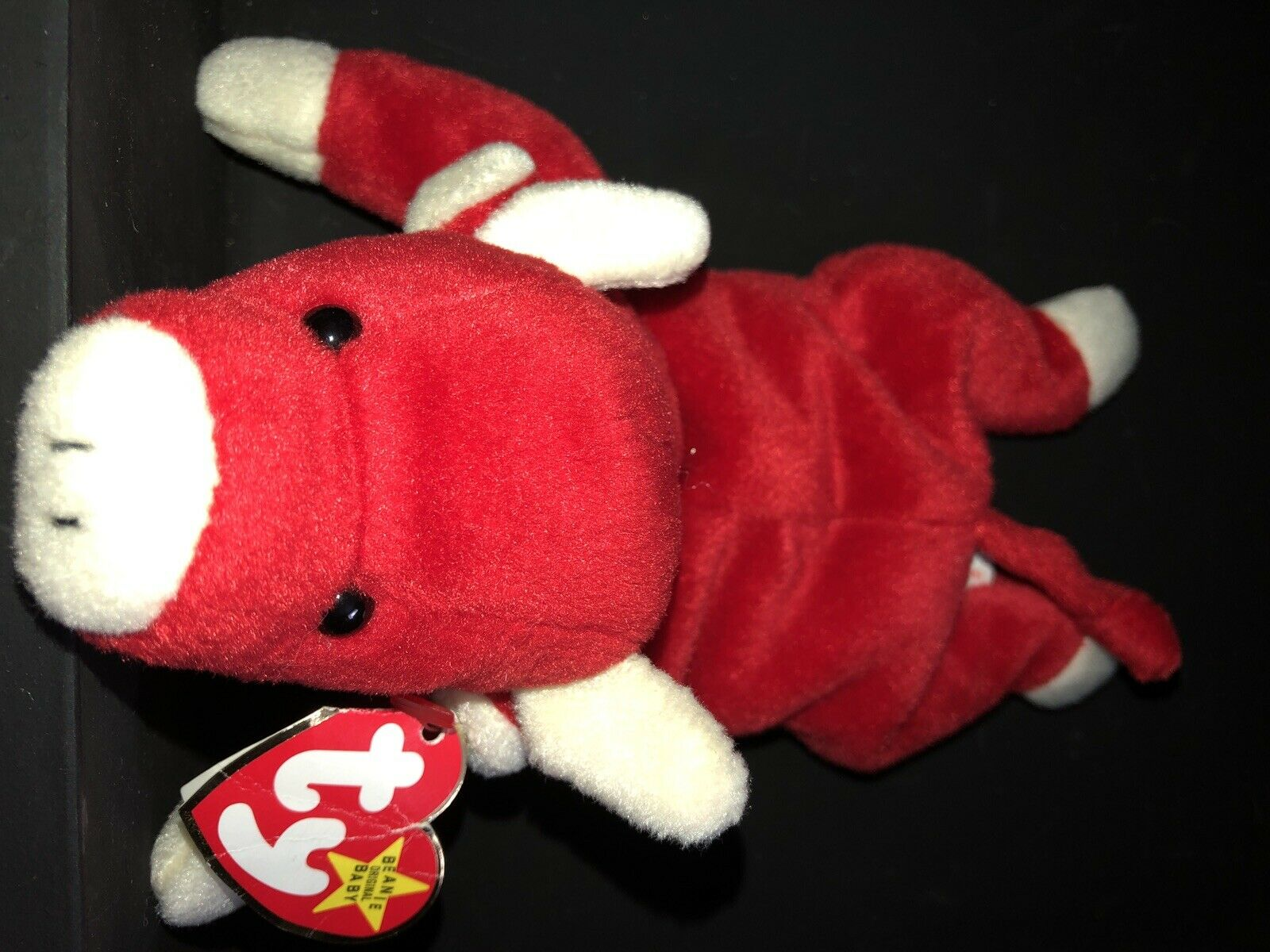 TY Beanie Babies Snort 1995 with Tag Errors & P.V.C Pellets Style Numbers