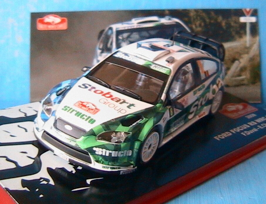 FORD FOCUS RS WRC 07  8 RALLYE MONTE CARLO 2008 DUVAL CHEVAILLIER IXO 1 43