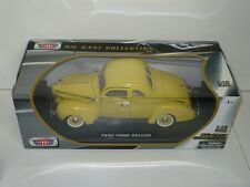 MOTORMAX 40 FORD DELUXE V8 1:18 SCALE DIE-CAST YELLOW TAN FREE SHIP