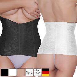 Damen Bauchweggürtel Korsett Formende Unterwäsche – Schwarz Beige – bis XXXL