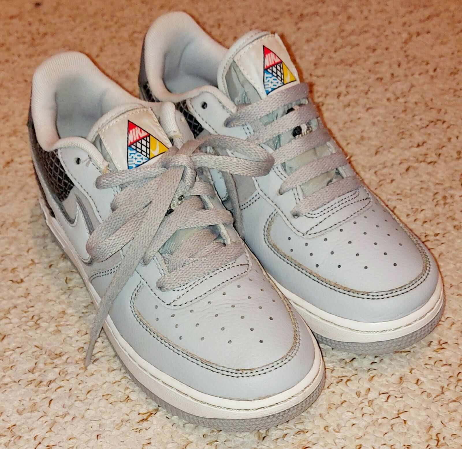 Nike Air Force 1 Now Af1 Wolf Grey Kid Boys Men's Shoes Av0748 001 Used Size 4.5