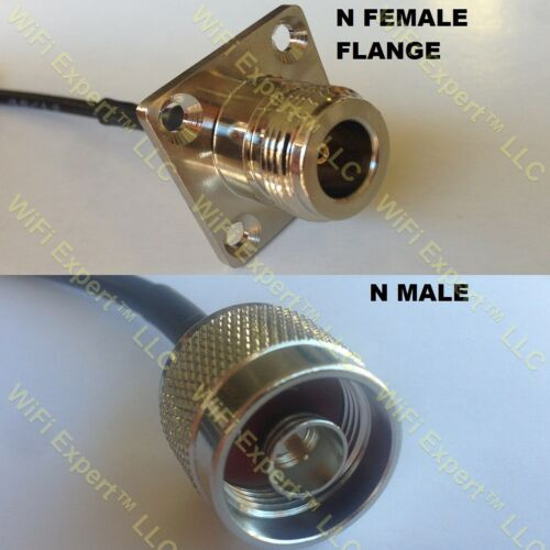 USA-CA RG405 N FLANGE FEMALE to N MALE Coaxial RF Pigtail Cable