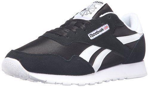 b49ff8327bc Reebok Classic Royal Nylon Black White Mens Running Tennis Shoes Sz 10.5 M  D7615 for sale online