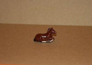 JOHILLCO VINTAGE LEAD TOY HORSE / PONY LAYING - 100% ORIGINAL - V 405