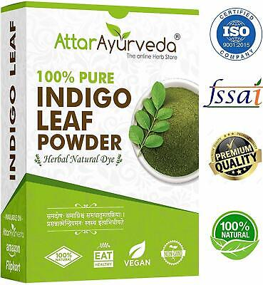 Attar Ayurveda Indigo Powder For Black Hair 200 Grams Free