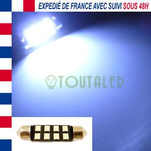 AMPOULE LAMPE NAVETTE C7W 39MM 12V 8 LED 2835 BLANC XENON PLAQUE PLAFONNIER