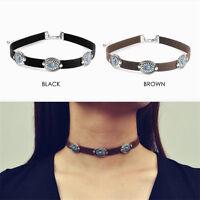 1 Pc Short Choker Inlay Turquoise Collar Necklace Women Fashion Jewelry