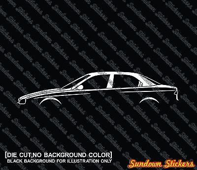 saloon for Alfa Romeo 156 sedan 2x car silhouette stickers