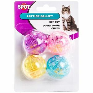 Pack of 4 Cats Ethical Pet Slotted Balls Pet Supplies