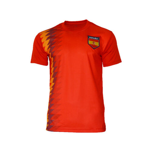 Spain National Team Jersey Patriotic Espana Flag Shield Pride Sports Soccer