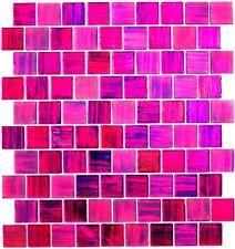 Glasmosaik Struktur pink mix klar/gefrostet Fliesenspiegel Art: 68-CF47 10Matten