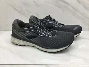 Brooks-Ghost-12-Mens-Black-Grey-Running-Casual-Shoes-Mens-Size-10-5EE-Wide